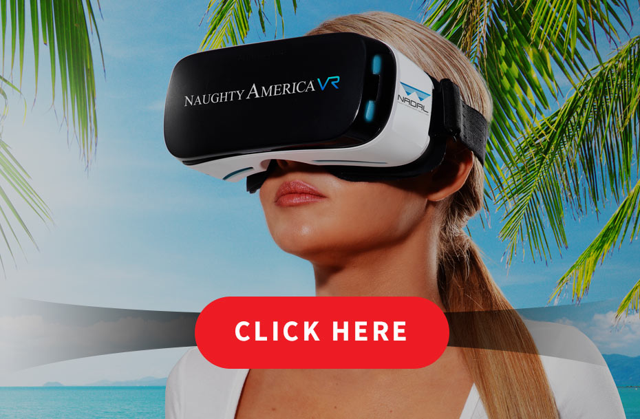 A woman viewing Naughty America virtual reality